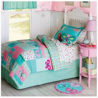 Child bedding piece set duvet cover girl 1.35m bed 1-bed cover 155*210cm+1-pillow case58*74