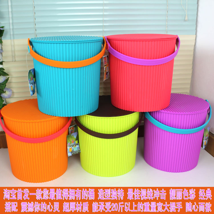 Ka-0199 function thickening bucket car wash fishing bucket laundry powder toy storage bucket plastic(China (Mainland))