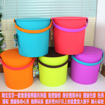 Ka-0199 function thickening bucket car wash fishing bucket laundry powder toy storage bucket plastic