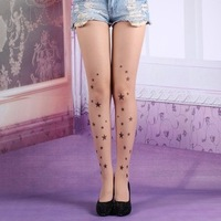2013 spring small cat stockings female white ultra-thin meat pantyhose     3