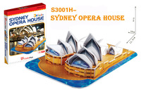 Sydney opera house cubic fun S3001H 30pcs 3D Puzzle Famous buildings paper model DIY Educational toys for kids free shipping