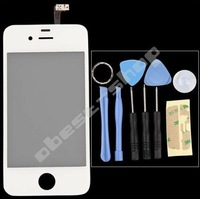 Free Shipping White Touch Screen Repaire Tool Front  Glass Replacement for iPhone 4S.