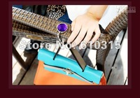 Free Shipping bag hook Round foldable Bag Hanger/Purse Hook/Handbag Holder with Acrylic Mix Fashion+