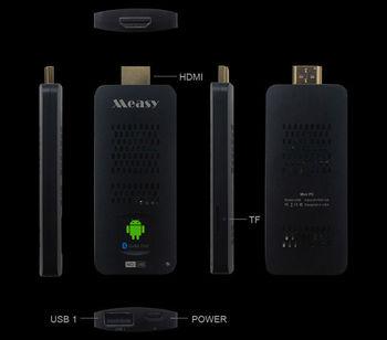 5pcs/lot Measy U4B RK3188 Quad Core 1.8GHz 2G/8G Bluetooth 5G WiFi module Android 4.2 Mini PC Android TV Box Google TV Stick