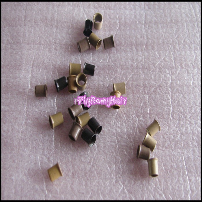 2013 New Hot sale easilocks 3.2x2.8x4.0mm,1000pcs/lot copper tube loop/bead for fusion hair extension(China (Mainland))