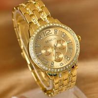 Hot Sale Fashion Geneva Hot Sell Rhinestone Alloy Luxury Ladies' Wrist Watch Wristwatches Free Shipping ZW0007