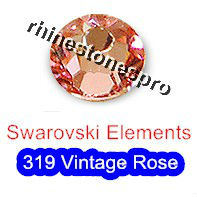 ss7 GENUINE Swarovski Elements Vintage Pink ( 319 ) 144 pcs ( NO hotfix Rhinestone ) Bulk Round Glass 7ss 2058 FLATBACK Crystal(Hong Kong)
