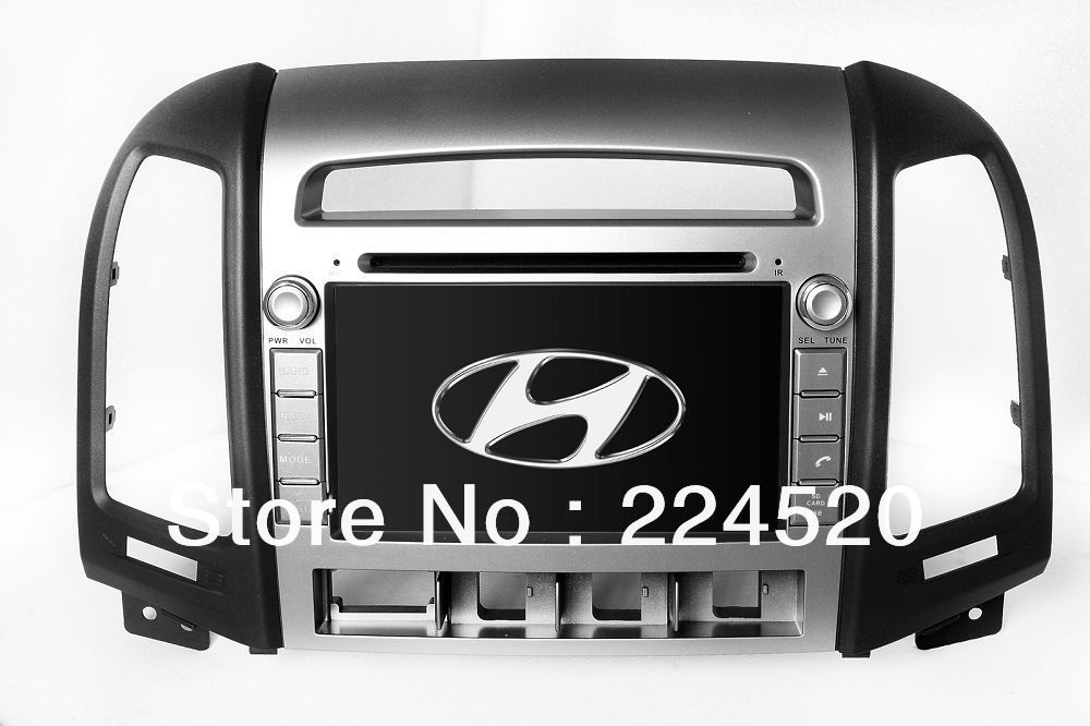 7&quot; 2-Din In Dash Car DVD Player for Hyundai Santa Fe 2006-2012 with GPS Navigation Bluetooth TV USB Auto Radio Audio Multimedia(China (Mainland))