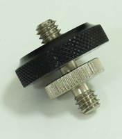 "long 1/4"" Male Threaded to 1/4"" Male Threaded screw Adapter with 1/4"" nut for 5D2 system"