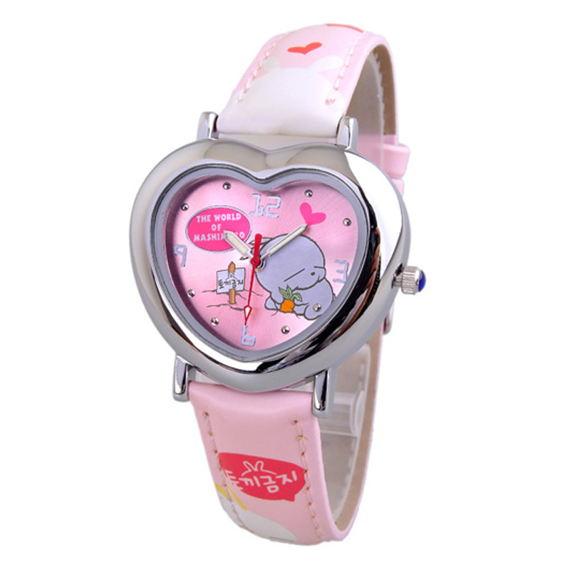 FREE SHIPPING Strap luminous pointer child table cartoon little girl quartz watch child watch(China (Mainland))