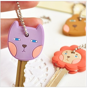 Free Shipping Minimum order $10 animal keychain mobile phone key chain key portable set(China (Mainland))