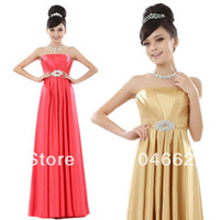 pleat with beading long design multi-colors bridal evening dress bridesmaid dress
