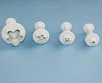 Free Shipping 4pcs Plum Flower Plunger Cutter Mold Sugarcraft Fondant Cake Decorating DIY Kitchen Tool