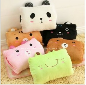 Cartoon hand po pillow cushion hand warmer muff bear plush toy