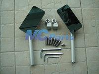 OEM Rear Side Mirrors For Kawasaki Z1000 Z750 R ER6F N W800 ER4N KLX250 Silver Free shipping
