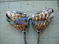 Free shipping For Harley Davidson Aprilia Buell Ducati KTM Moto Guzzi Triumph ATV Mirrors Gold