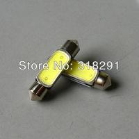 free shipping Wholesale White 1.5W COB Chip LED Car Interior Light  Festoon Dome Adapter 12v,41 39 36 31 mm