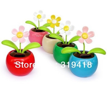Hot Selling !Magic Cute Flip Flap ,Solar Powered Swing Solar Flower, Plant Swing Solar Toy Free Shipping