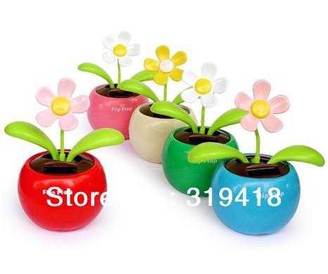 Hot Selling !Magic Cute Flip Flap ,Solar Powered Swing Solar Flower, Plant Swing Solar Toy Free Shipping(China (Mainland))