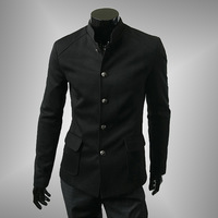 2014 Hot-selling male suit vintage chinese tunic suit single breasted applique pocket chinese tunic suit casual suit