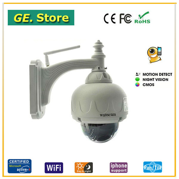IR CUT ip camera of wanscam 3 times optical zoom ptz control outdoor dome waterproof ip camera wireless wifi support ir 15m cam(China (Mainland))