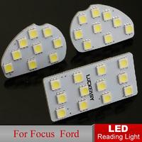 Car LED Reading Light Focus 2009-2011 Sedan Auto Interior Rooflight Full Set LED Dome lamps Interior Lighting Fast HK Post