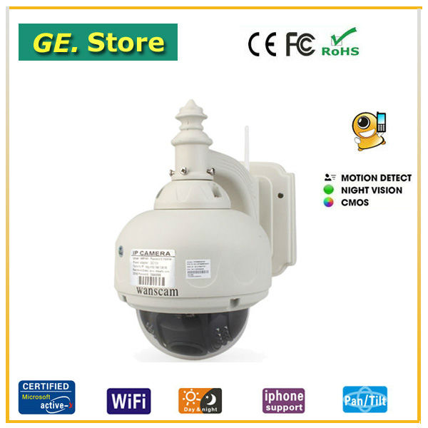 Video ptz camera ip 3 times optical zooms doming wireless wifi connection web view motion detection security equipment ip cam(China (Mainland))