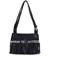 Free shipping Fashion Fringe Tassel Hand Style Women lady Satchel Bag Shoulder Messenger Bag # 8728