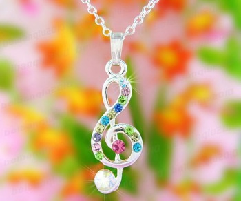[Mix 10USD] Lady Pendant Necklaces New Jewelry Fashion Crystal pendant Necklace For girls N1067