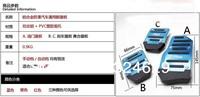 3 PCS Car Auto Vehicle Non-slip Pedal Aluminium Alloy Foot Treadle Cover Pad S Free Shipping