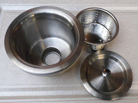 Large stainless steel sink water head lid steel water head steel water diameter 140mm