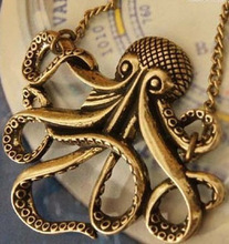 2014 hot Fashion Jewelry Caribbean Octopus Vintage Retro Long Octopus Necklace A0030