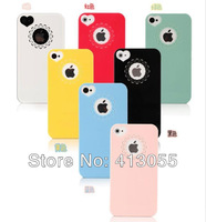 Wholesale 20pcs/lot New Ultra Thin Heart Shape Lace Case For iphone4 4s 10pcs case + 10pcs screen protector