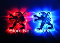 Free Shipping car badge light  car logo light auto led light auto emblem led lamp 3 colors optional