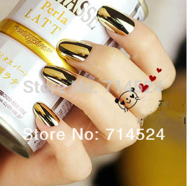 FREE SHIPPING, 2013 Hot ,288pc(12set)/lot,Fashion metal nail art false nail patch membrane paper finger sticker(China (Mainland))