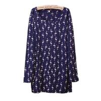 Free shipping! 2014 new fashion tops loose large size casual clothing women cotton long shirt