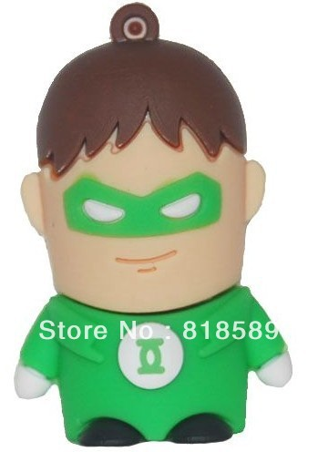 retail new sitting Green Lantern usb flash drive disk 4GB 8GB free shipping(China (Mainland))