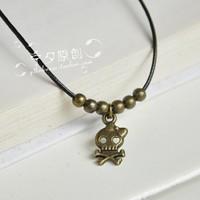 free shipping 10pcs Anklets vintage beads mini skull bangle