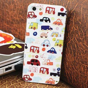Cartoon car for apple pattern 5 iphone5 phone case cell phone case colored drawing relief(China (Mainland))
