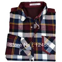 Free shipping men fashion shirts men's business casual shirt grid unlined upper garment of cotton shirt and coat