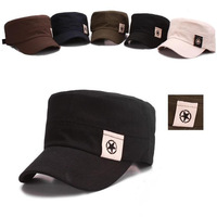 cadet hats for men 2013 five-pointed affixed cloth flat top cap cotton military style hats for men 20pcs free shipping