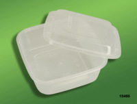 Free shipping, 650ml square boxes plastic lunch box packing box disposable lunch box 15495