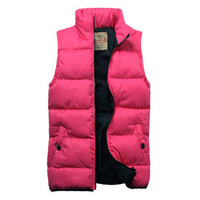 autumn and winter lovers vest women and men cotton wadded vests jackets S-XXL Drop Free Shipping