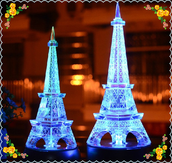 Crystal Eiffel Tower with Music Box Base For Table Decoration(China (Mainland))