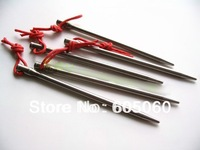 Titanium Ti Outdoor Camping Tent Pegs Stakes Hook lot of 10pcs  free shipping
