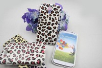 500pcs/lot New Luxury Leopard Prints hard case for samsung galaxy s4 i9500 Back cover Case,free shipping