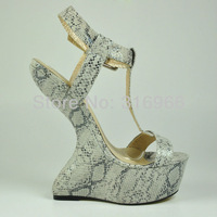 Shoes woman fashion 2013 Summer New Arrival Snakeskin designer high heel sandals evening shoes wholesale#YD1056