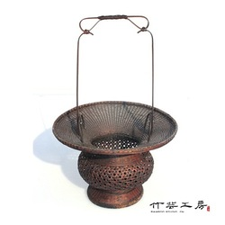 Bamboo crafts Bamboo basket ikebana flower bamboo large basket(China (Mainland))
