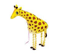 Free shipping 20pcs/lot walking pet balloon helium balloon walking balloon Giraffe balloon