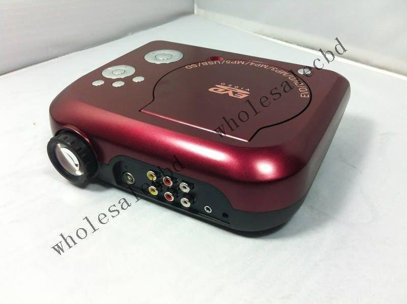 Multimedia DVD Player Portable Home Theater DVD Projector Hot Sell free shipping(China (Mainland))
